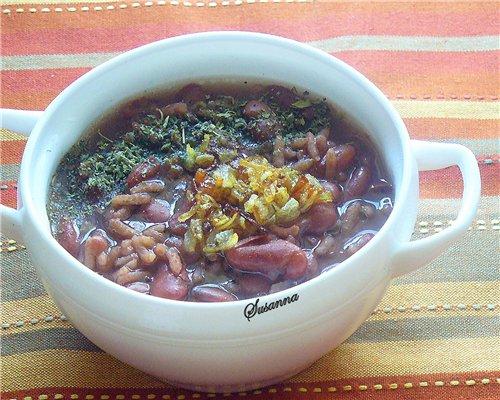Суп с фасолью по армянски